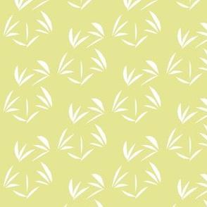 Snowy White Oriental Tussocks on Green Ginger