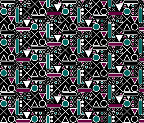 Xs and Os fabric by sharksvspenguins on Spoonflower - custom fabric