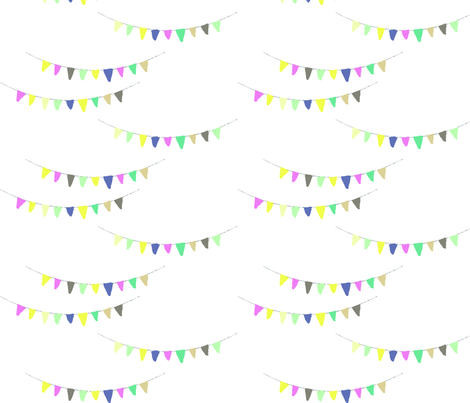 A good day for bunting fabric by oddsundays on Spoonflower - custom fabric