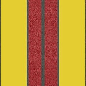 Painted Goose Stripes on Yellow
