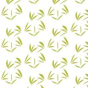Celery Juice Oriental Tussocks on Snowy White
