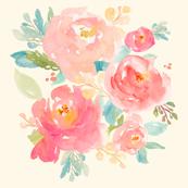 Floral Sweet Pastel - Cream / Ivory