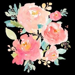 Floral Sweet Pastel - Black