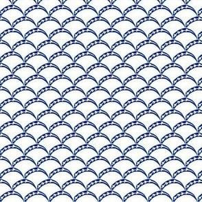 Halfmoon blue handpainted