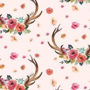 """4"""" Floral Deer Garden - Pink"""