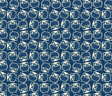 Twittwoo fabric by floramoon on Spoonflower - custom fabric