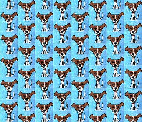 Happy Dog fabric by nd_ali on Spoonflower - custom fabric