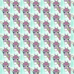 Line Giraffe Pastel