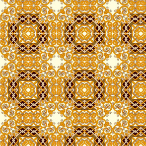 Silver and Gold Floral Pattern