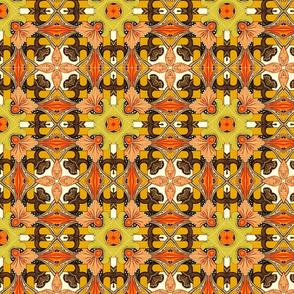Earthtone Floral Grid