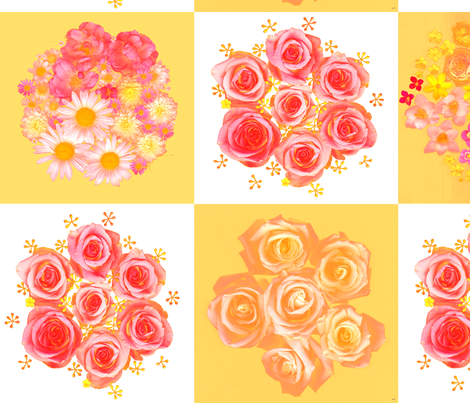 rose_checkers_card_variant_spoonflower_res fabric by mermaid13 on Spoonflower - custom fabric