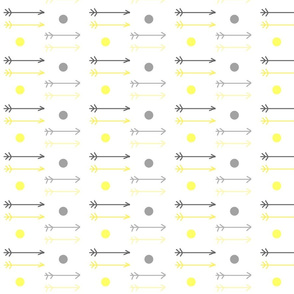 little arrows ombre dots - gray yellow