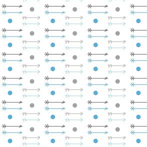 little arrows ombre dots - gray blue