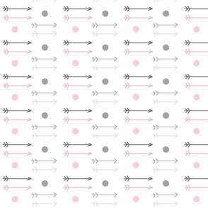 little arrows ombre dots  - gray pink