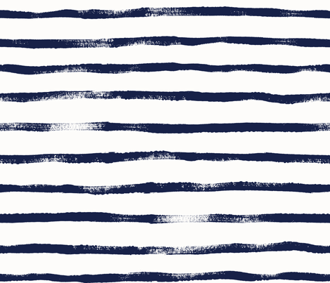 Thin Stripe Indigo fabric by crystal_walen on Spoonflower - custom fabric