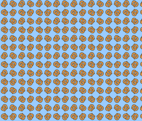 Dancing Pretzels fabric by cozyreverie on Spoonflower - custom fabric