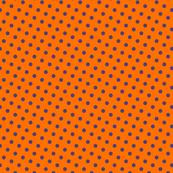 basic purple dots on orange