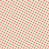 Basic dots red on creme