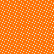 basic creme dots on orange