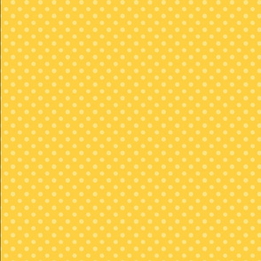 Yellow on yellow polka dot