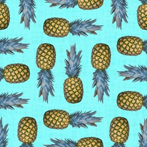 Pineapples (Turquoise)