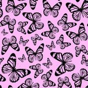 Pink Butterflies - Small