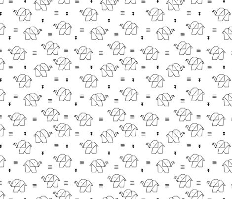 DESIGN Little Smilemakers Origami Elephant Bw Shop Preview Sweet Baby Geometric Design Black And White