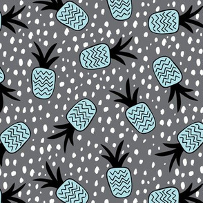 Summer pineapples memphis style pop triangle blue