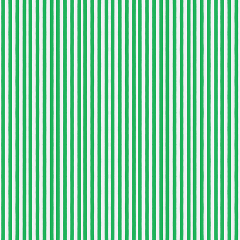 Serendipity Stripes #7 Grass Green/White fabric by serendipity_textiles on Spoonflower - custom fabric