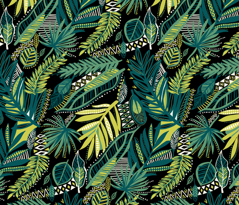 tribal jungle fabric by laura_may_designs on Spoonflower - custom fabric