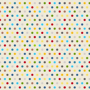 Neutral Polka Dots