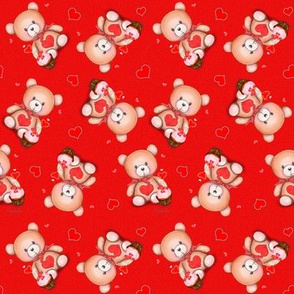 Teddy Bear Red S