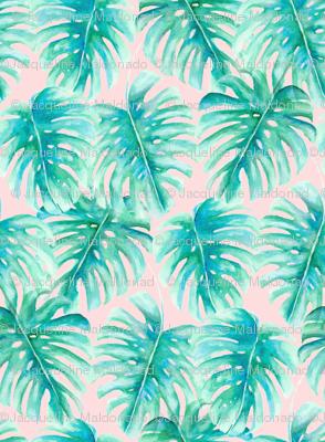 Paradise Palms Blush Large Scale