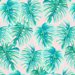 Paradise Palms Blush Large Scale