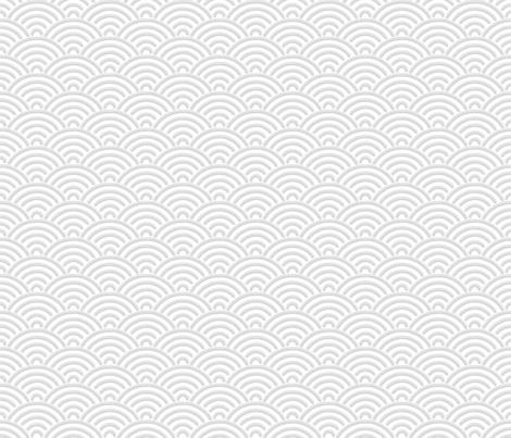 Japanese Seigaija white & gray fabric by mia_valdez on Spoonflower - custom fabric