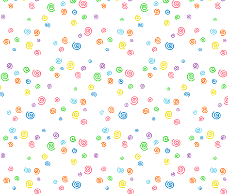 Spunky Spirals on White - Large fabric by musicmeister on Spoonflower - custom fabric