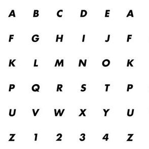 Monochrome ABC & 123