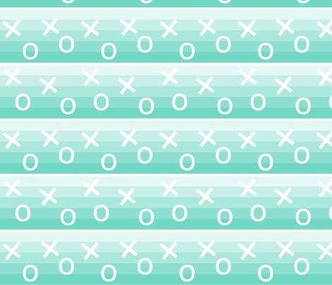 Aqua_Shaded_X_&_O fabric by belle&bo on Spoonflower - custom fabric