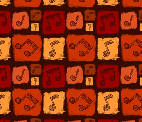 Tribal music fabric by sonyara on Spoonflower - custom fabric