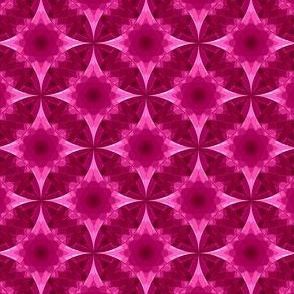 Geometric floral pattern crimson