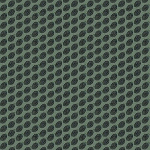 Charcoal Hop Dots on Dark Green