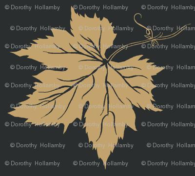 Pale Mustard Hop Leaves onCharcoal