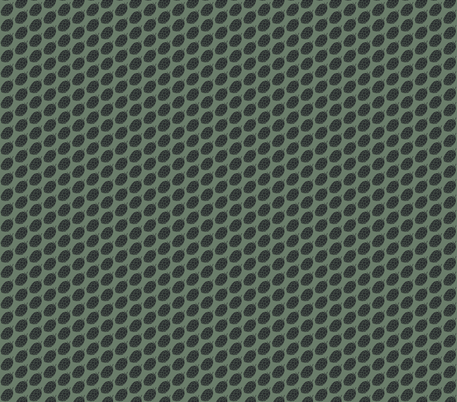 Charcoal Hop Stencil on Dark Green  fabric by a_bushel_of_hops on Spoonflower - custom fabric