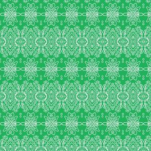 Line Design/Emerald Green/White