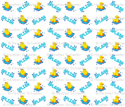 Splish Splash Ducks on White