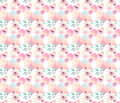 INDY BLOOM BLUSH BABY A fabric by indybloomdesign on Spoonflower - custom fabric