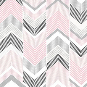Black Grey Pink Chevron