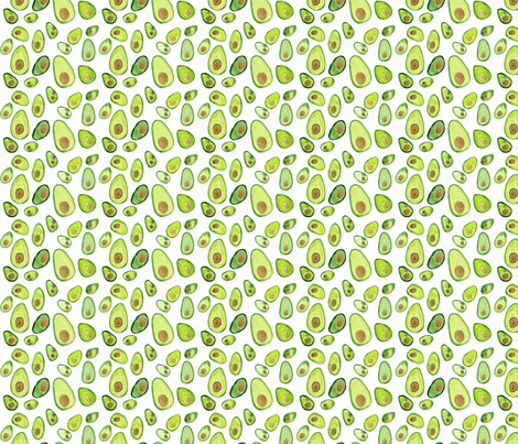 Watercolor Avocado Painted Print fabric by positivelyradishing on Spoonflower - custom fabric