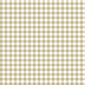 Mini Gingham Khaki