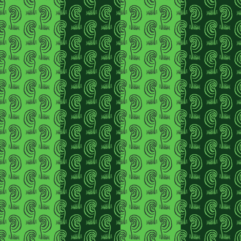 Mixed Greens Willow Stripe fabric by anniedeb on Spoonflower - custom fabric